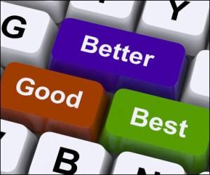 keyboard with better, good, best keys